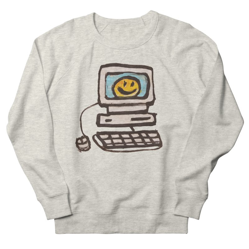 Computer Love Women's French Terry Sweatshirt by GOONS