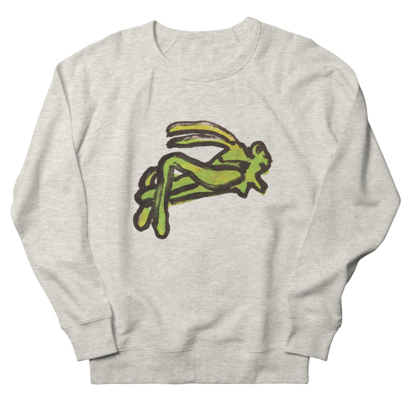 Lucky Grasshopper in Men's French Terry Sweatshirt Heather Oatmeal by GOONS
