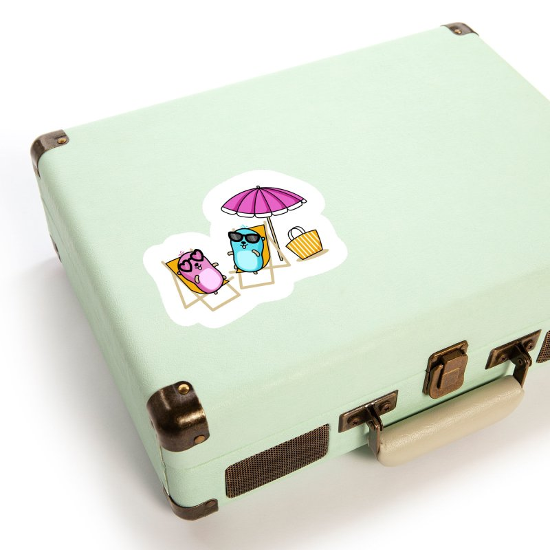 Go to beach Accessories Sticker by Be like a Gopher