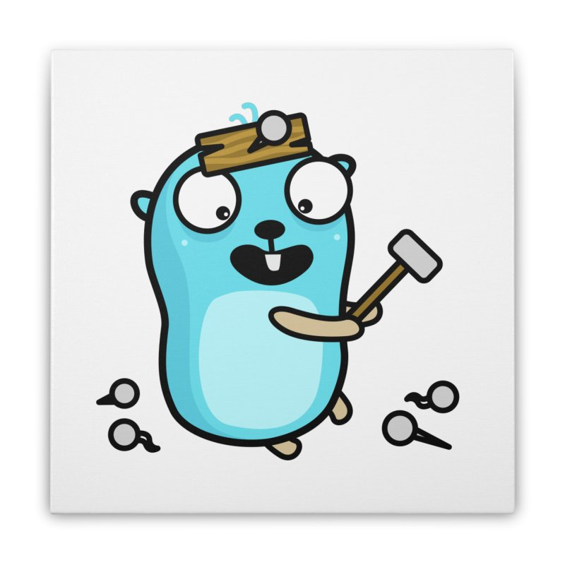 Oh no Home Stretched Canvas by Be like a Gopher
