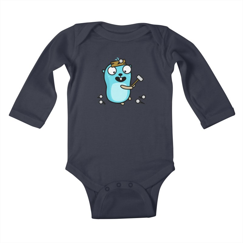 Oh no Kids Baby Longsleeve Bodysuit by Be like a Gopher