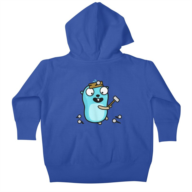 Oh no Kids Baby Zip-Up Hoody by Be like a Gopher