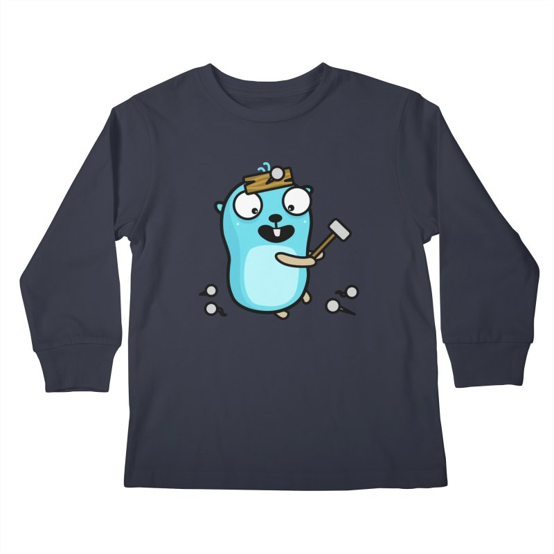 Oh no Kids Longsleeve T-Shirt by Be like a Gopher