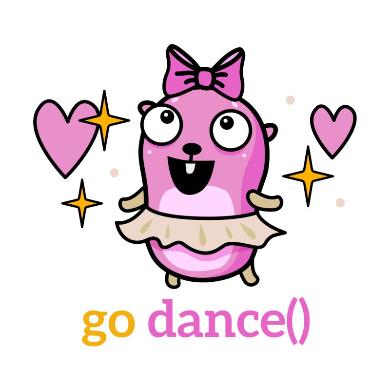 go dance() Accessories Sticker by Be like a Gopher