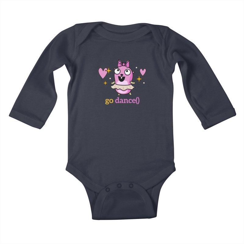 go dance() Kids Baby Longsleeve Bodysuit by Be like a Gopher