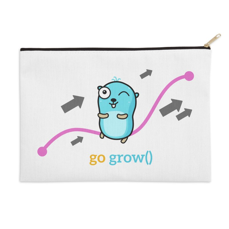 go grow() Accessories Zip Pouch by Be like a Gopher