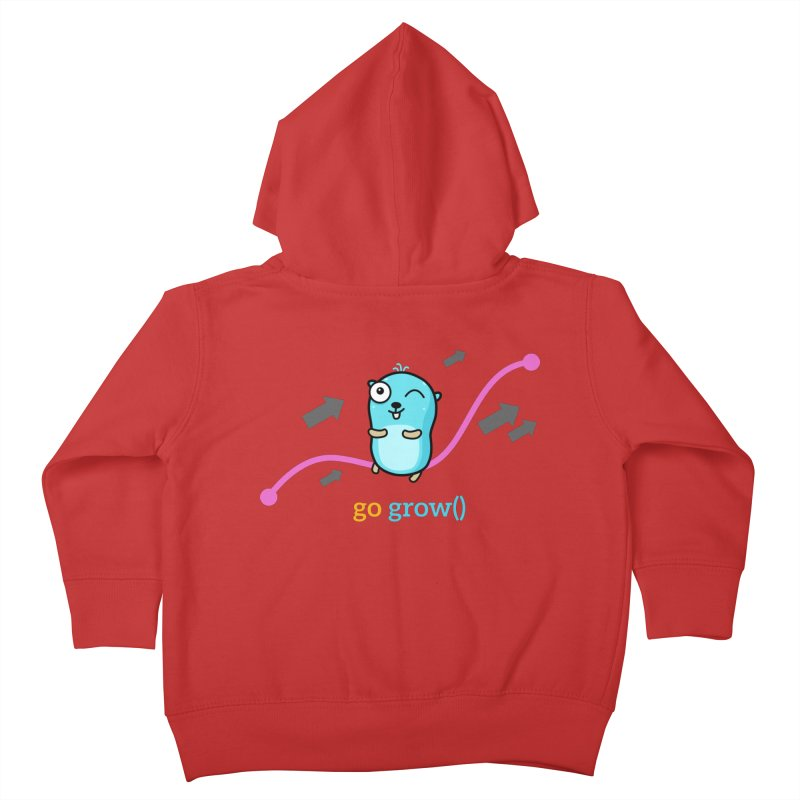 go grow() Kids Toddler Zip-Up Hoody by Be like a Gopher