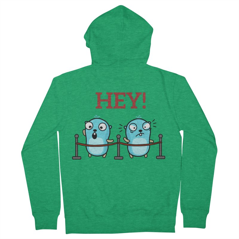 Hey! Men's Zip-Up Hoody by Be like a Gopher
