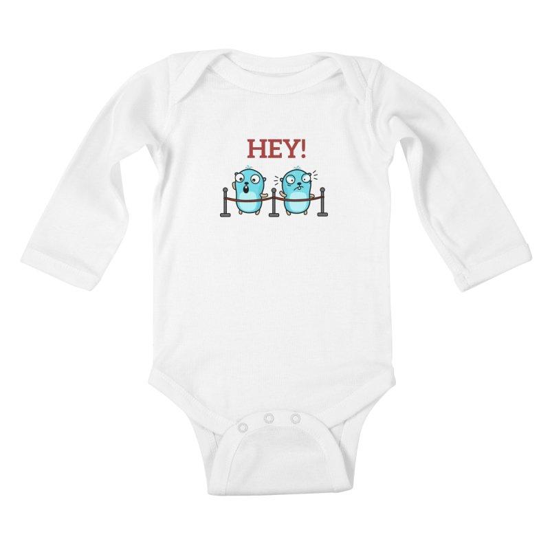 Hey! Kids Baby Longsleeve Bodysuit by Be like a Gopher