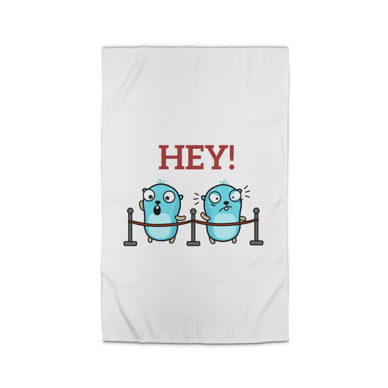 Hey! Home Rug by Be like a Gopher