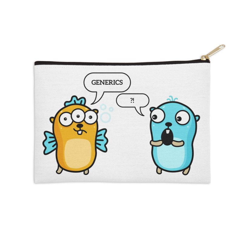 Generics in Go Accessories Zip Pouch by Be like a Gopher