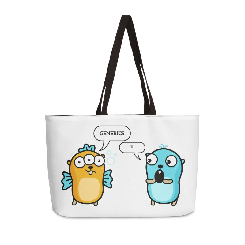 Generics in Go Accessories Bag by Be like a Gopher