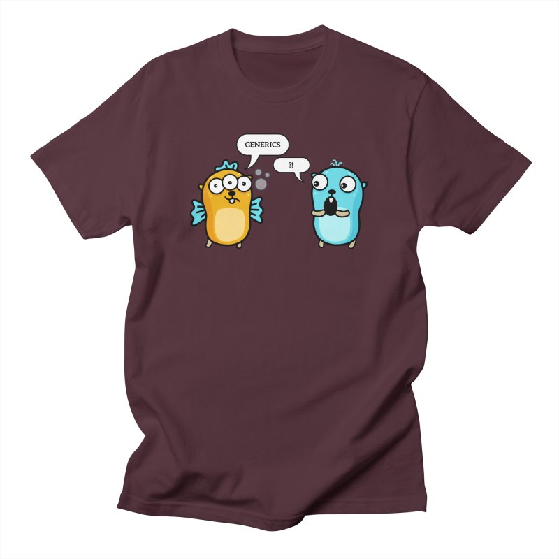 Generics in Go Men's T-Shirt by Be like a Gopher