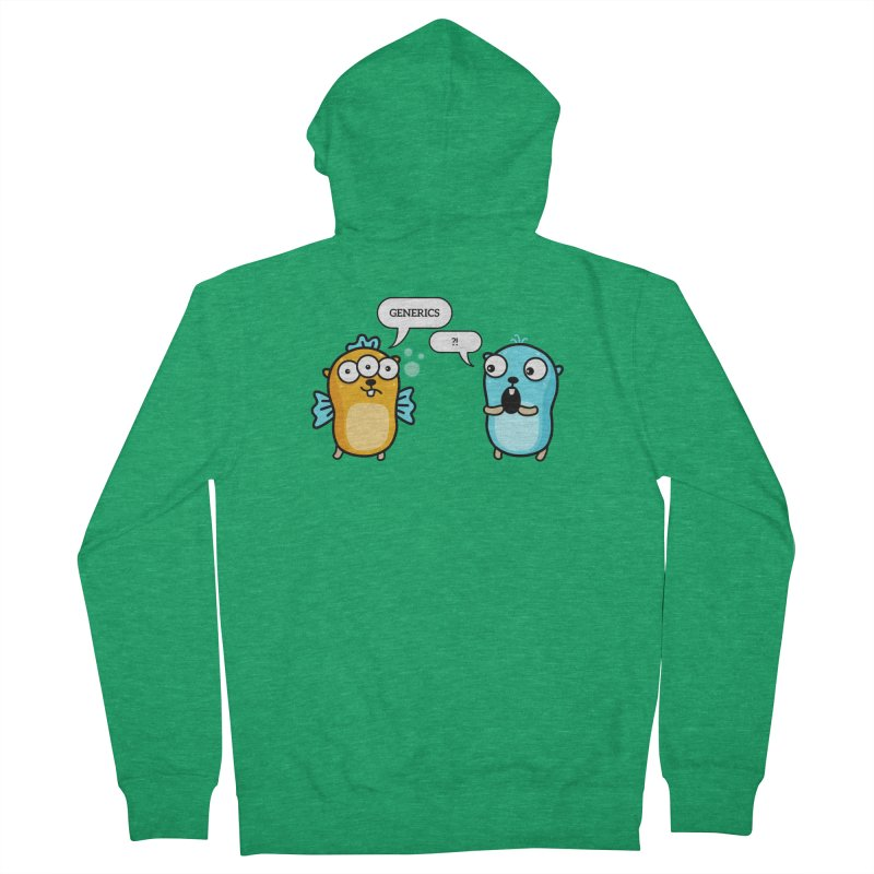 Generics in Go Women's Zip-Up Hoody by Be like a Gopher