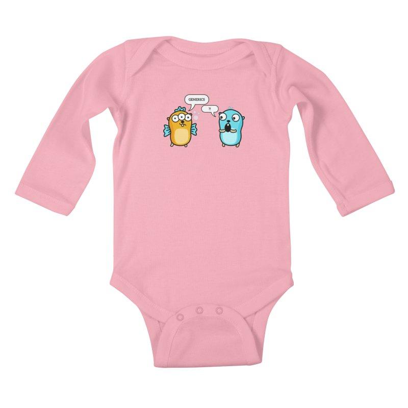 Generics in Go Kids Baby Longsleeve Bodysuit by Be like a Gopher