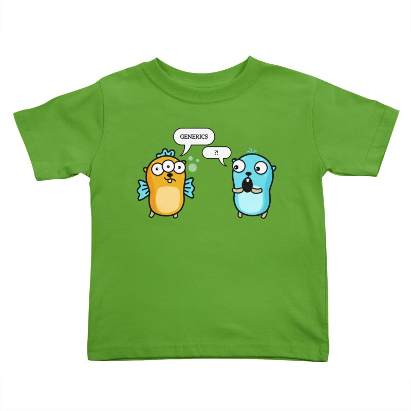Generics in Go Kids Toddler T-Shirt by Be like a Gopher