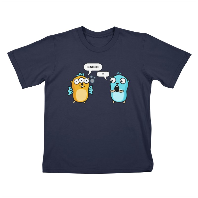 Generics in Go Kids T-Shirt by Be like a Gopher
