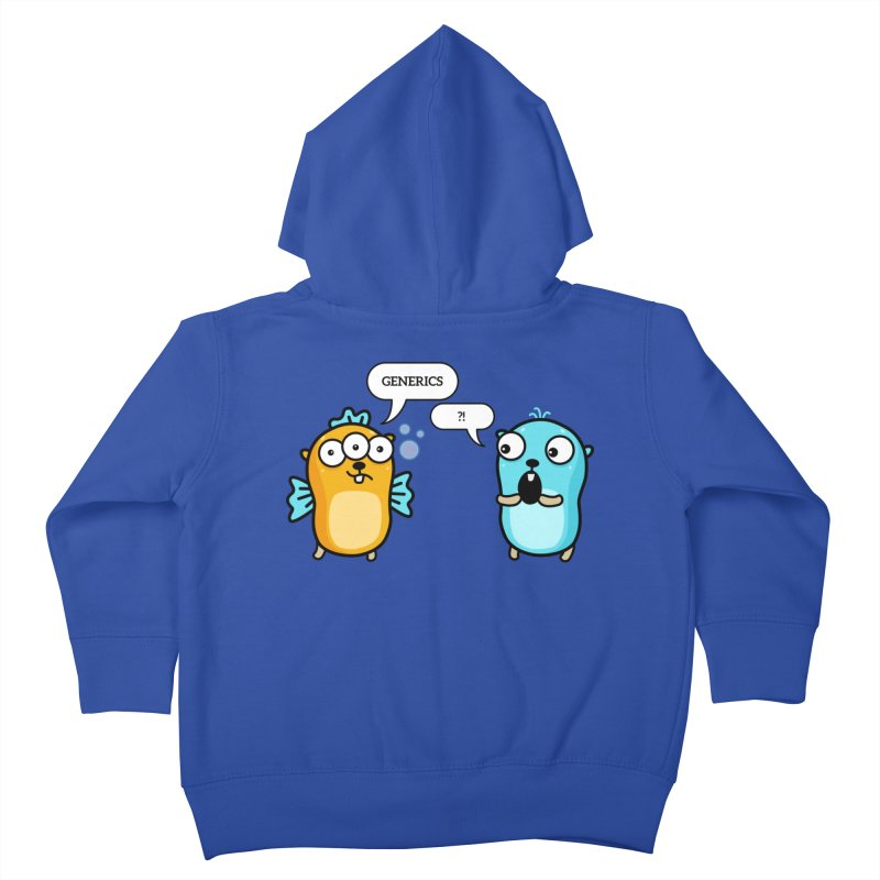 Generics in Go Kids Toddler Zip-Up Hoody by Be like a Gopher