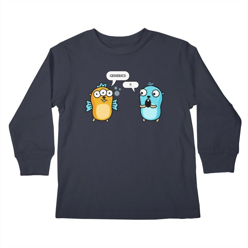 Generics in Go Kids Longsleeve T-Shirt by Be like a Gopher
