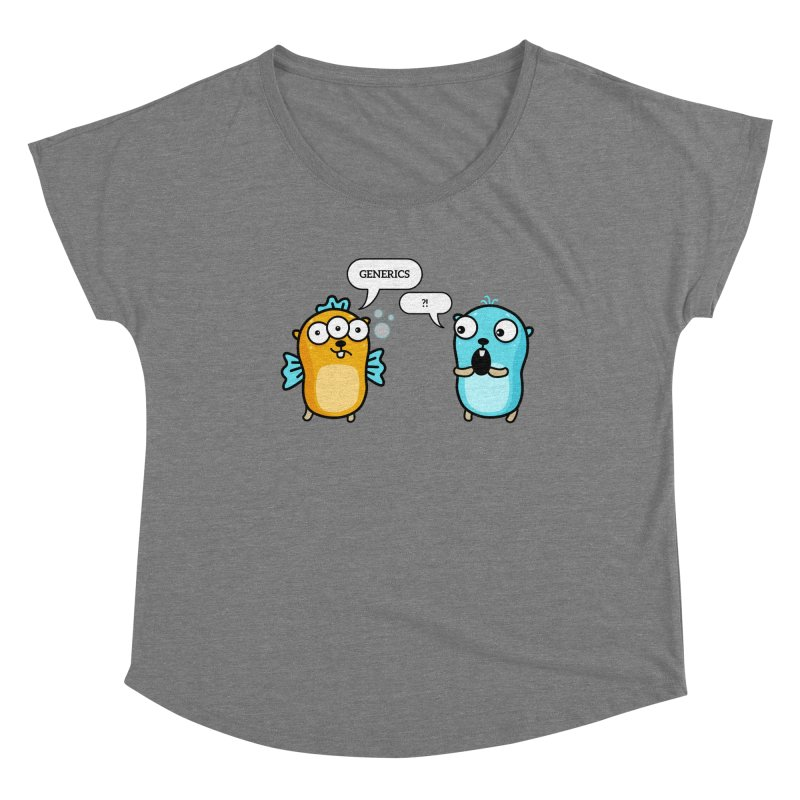 Generics in Go Women's Scoop Neck by Be like a Gopher