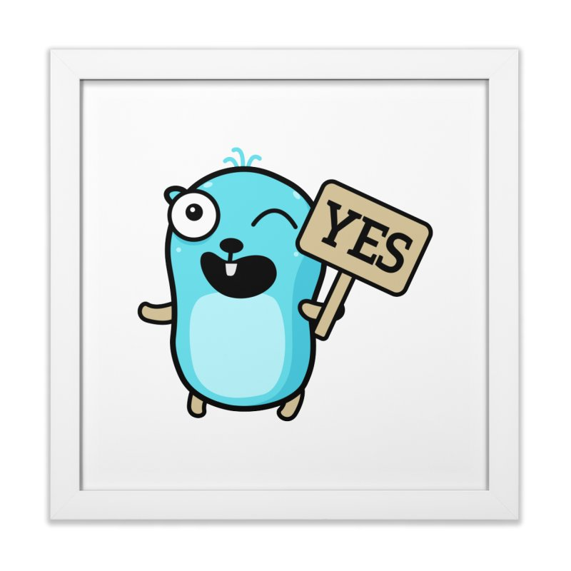 Yes Home Framed Fine Art Print by Be like a Gopher