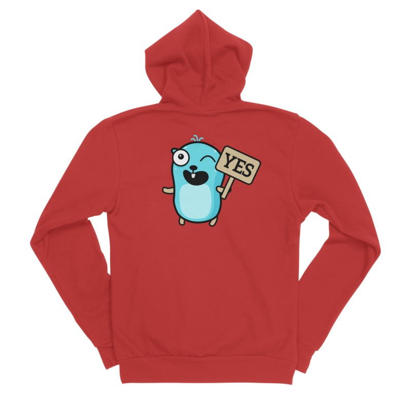 Yes Women's Zip-Up Hoody by Be like a Gopher