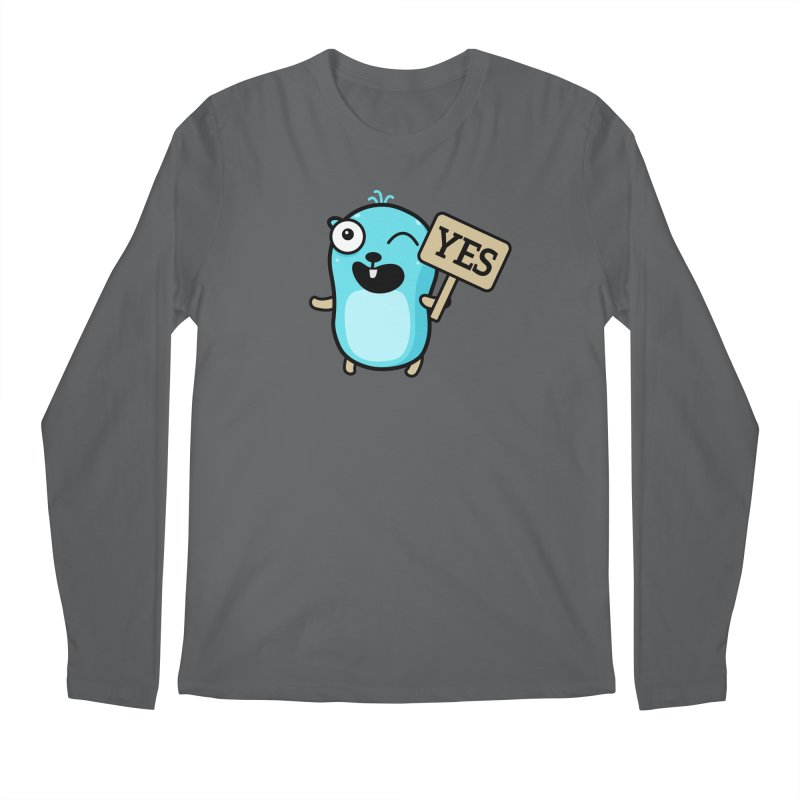 Yes Men's Longsleeve T-Shirt by Be like a Gopher