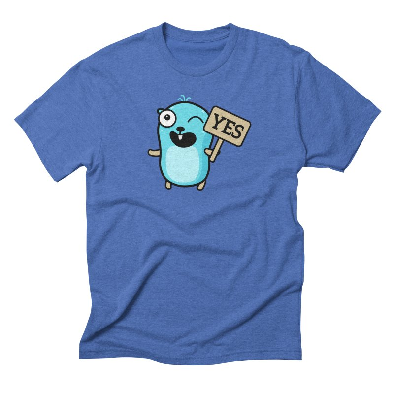 Yes Men's T-Shirt by Be like a Gopher