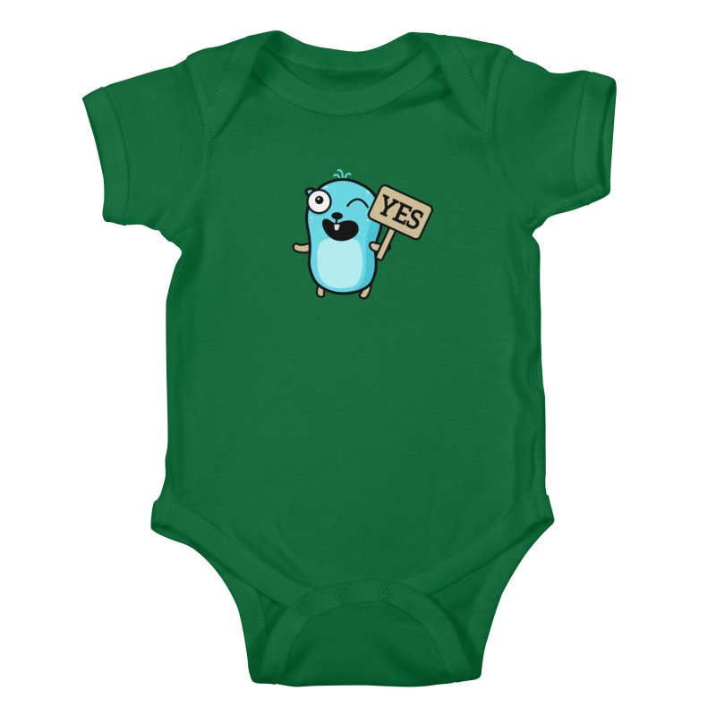 Yes Kids Baby Bodysuit by Be like a Gopher