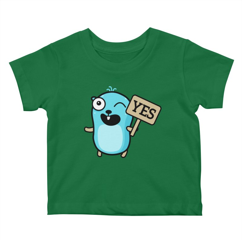 Yes Kids Baby T-Shirt by Be like a Gopher