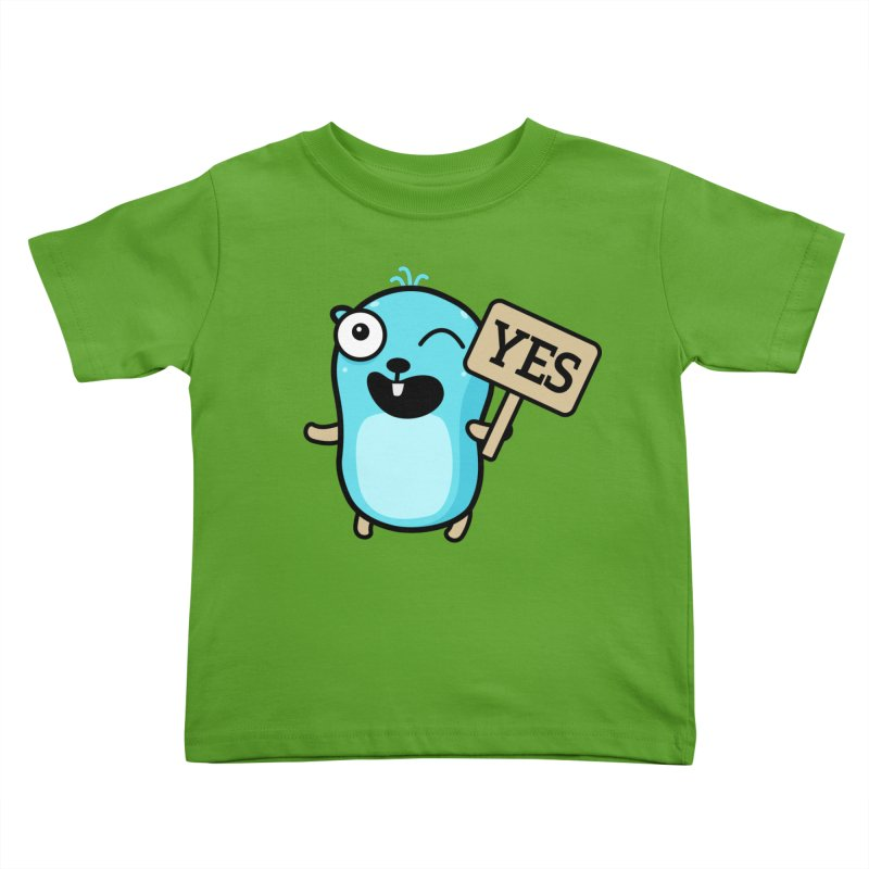 Yes Kids Toddler T-Shirt by Be like a Gopher