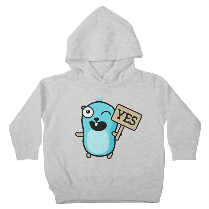 Yes Kids Toddler Pullover Hoody by Be like a Gopher