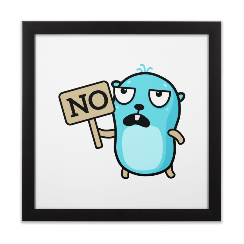 No Home Framed Fine Art Print by Be like a Gopher