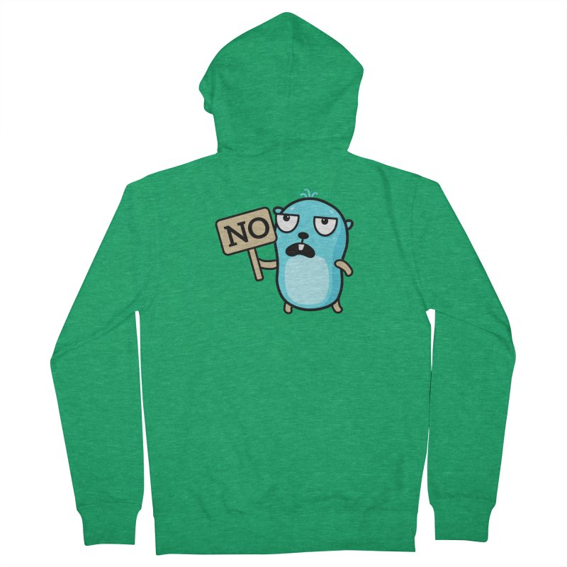 No Men's Zip-Up Hoody by Be like a Gopher