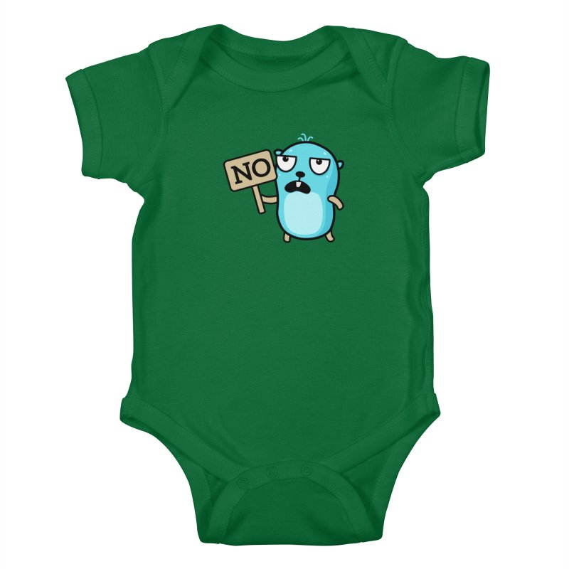 No Kids Baby Bodysuit by Be like a Gopher
