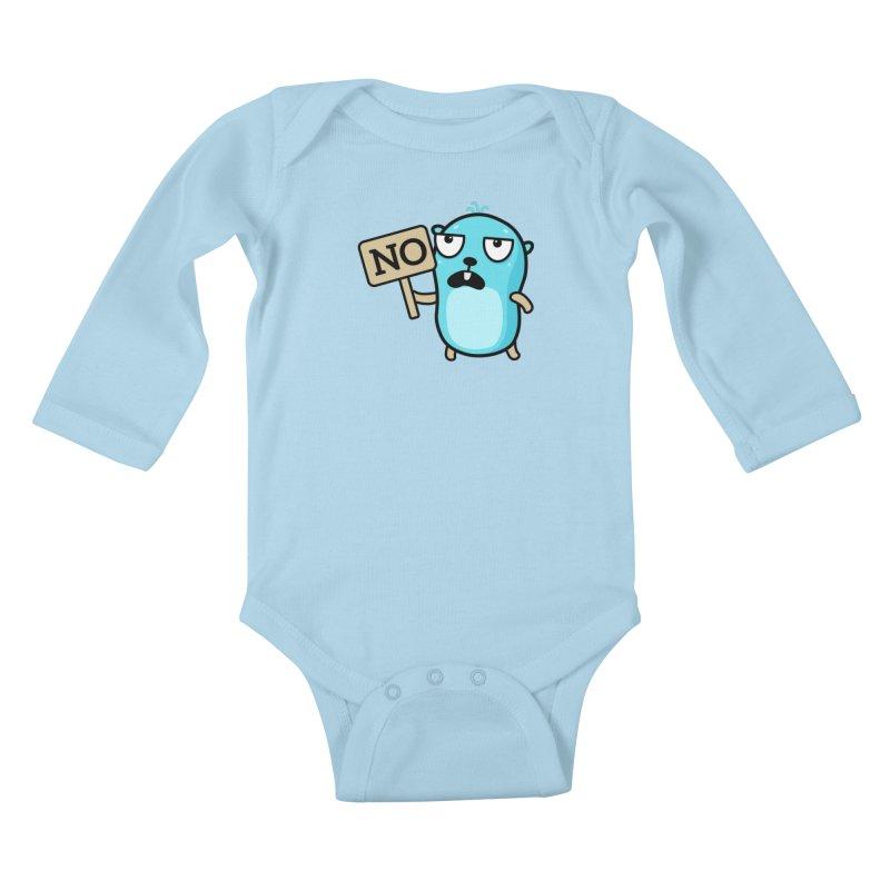 No Kids Baby Longsleeve Bodysuit by Be like a Gopher