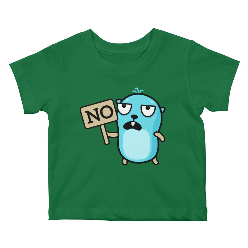 No Kids Baby T-Shirt by Be like a Gopher