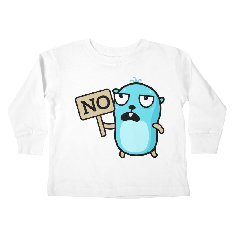 No Kids Toddler Longsleeve T-Shirt by Be like a Gopher