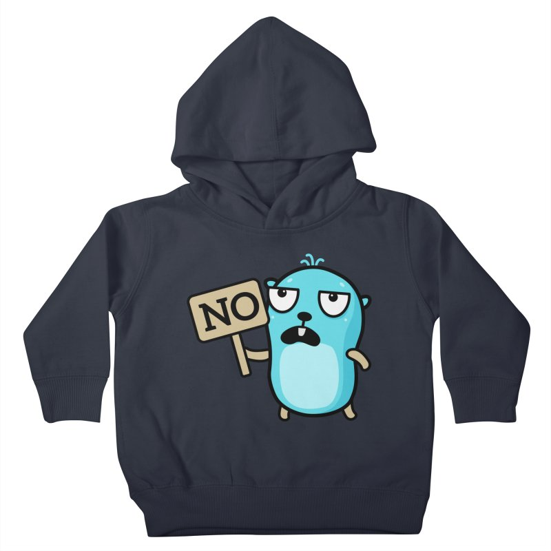 No Kids Toddler Pullover Hoody by Be like a Gopher