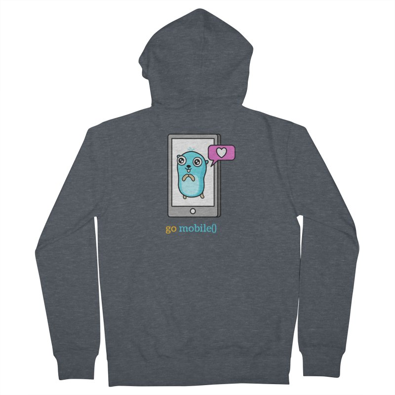 go mobile() Women's Zip-Up Hoody by Be like a Gopher