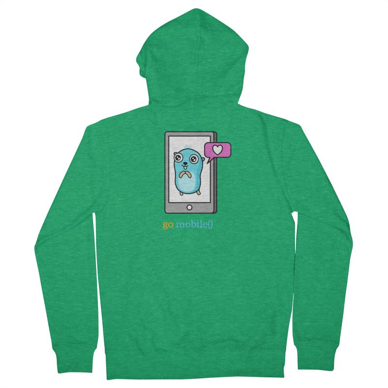 go mobile() Men's Zip-Up Hoody by Be like a Gopher