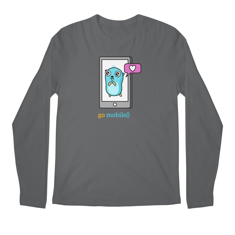 go mobile() Men's Longsleeve T-Shirt by Be like a Gopher