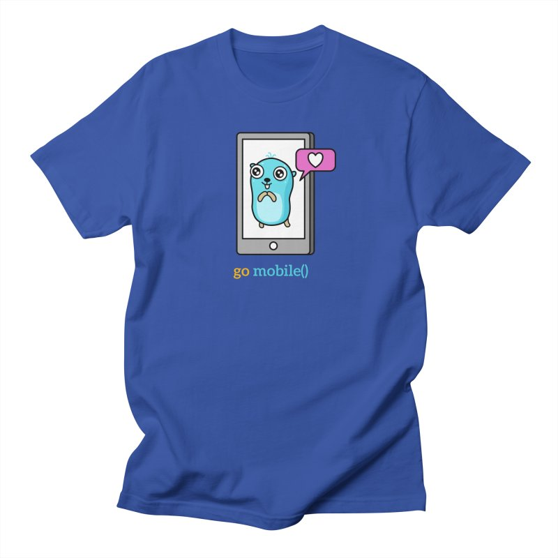 go mobile() Men's T-Shirt by Be like a Gopher