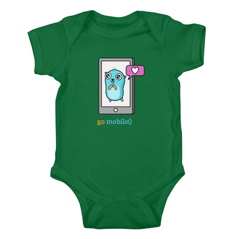go mobile() Kids Baby Bodysuit by Be like a Gopher