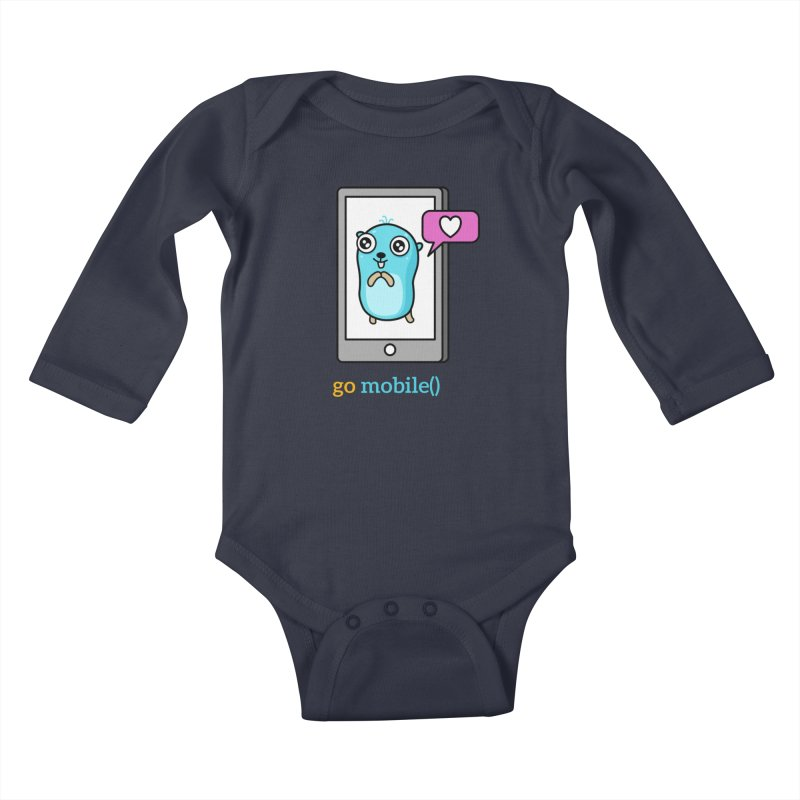 go mobile() Kids Baby Longsleeve Bodysuit by Be like a Gopher