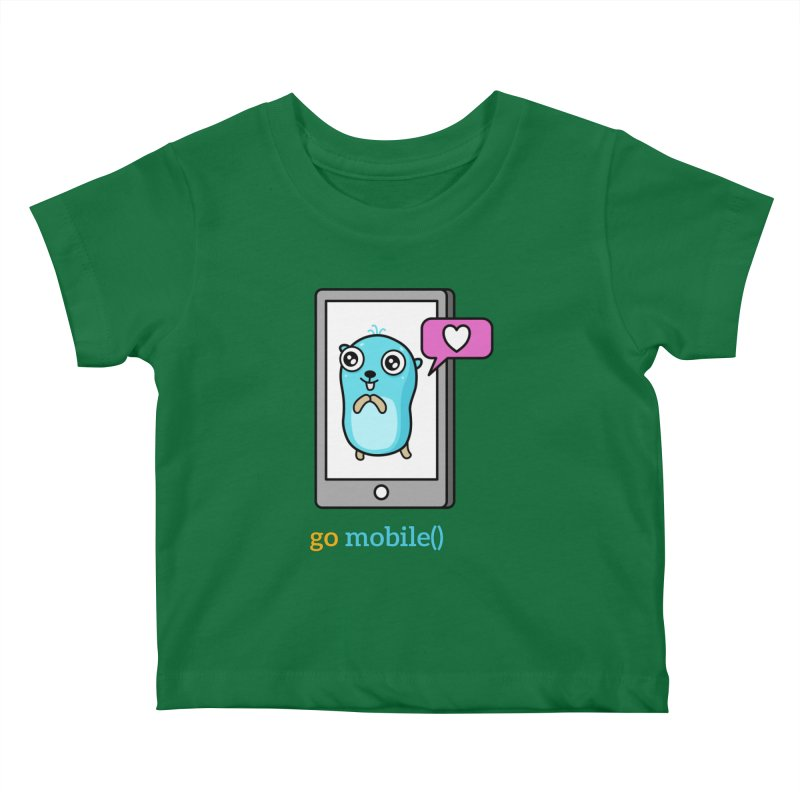 go mobile() Kids Baby T-Shirt by Be like a Gopher