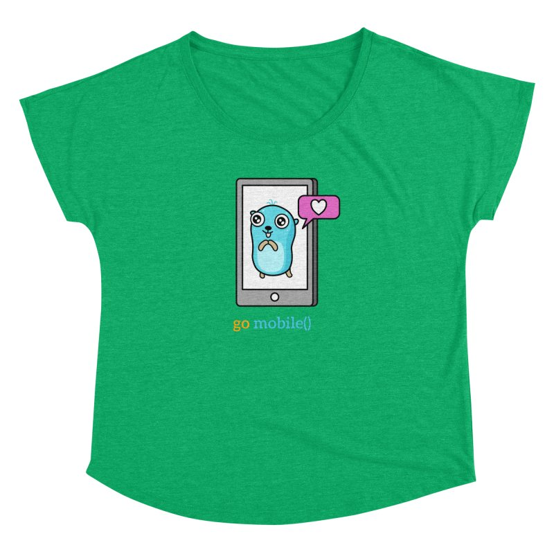 go mobile() Women's Scoop Neck by Be like a Gopher