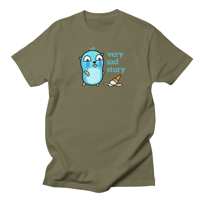 Very sad story Men's T-Shirt by Be like a Gopher
