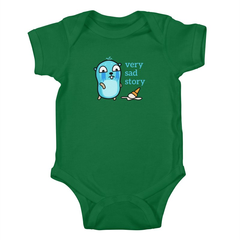 Very sad story Kids Baby Bodysuit by Be like a Gopher