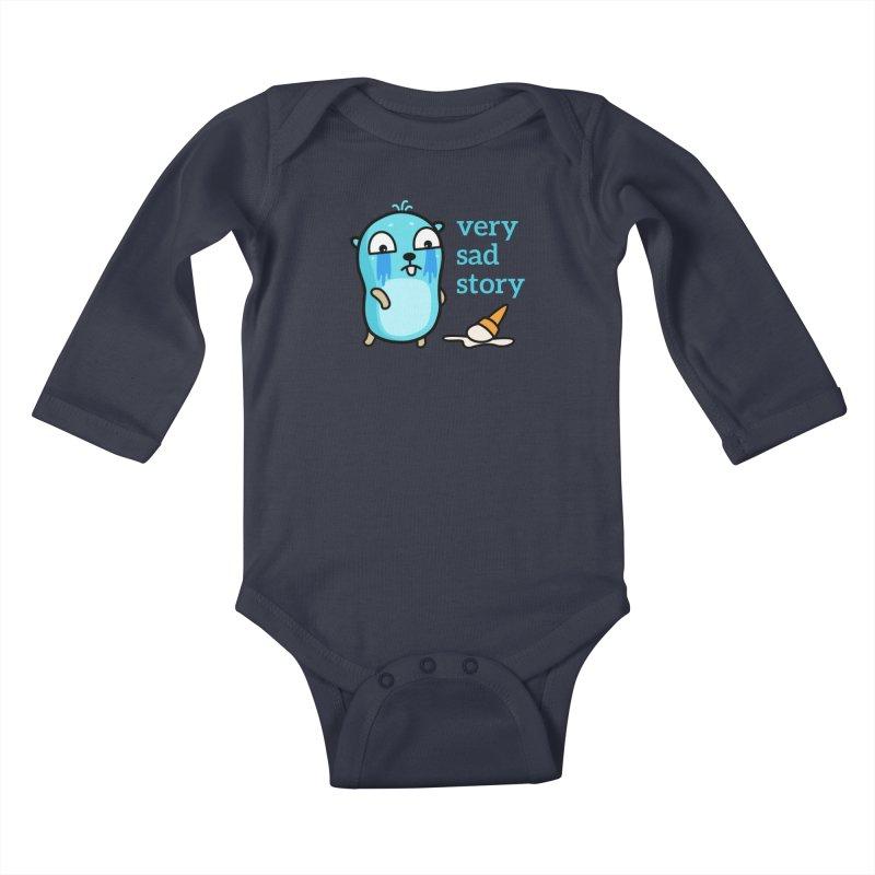 Very sad story Kids Baby Longsleeve Bodysuit by Be like a Gopher